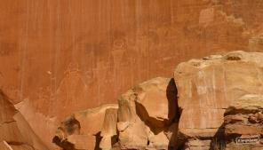 Petroglyphs in Capitol Reef