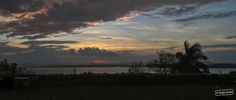 Sunrise over lake Victoria in Kampala