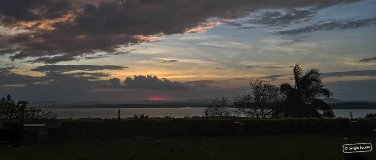 Sunrise over lake Victoria in Kampala
