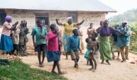 The Batwa people dance