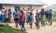 The Batwa people dance