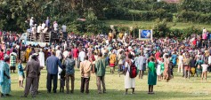 A political rally