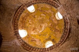Zodiac fresco in Qasr Amra