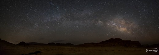 Night sky over Wadi Rum