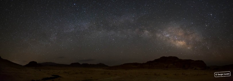 Night sky over Wadi Rum