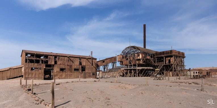 Salpeter processing plant at Santa Laura