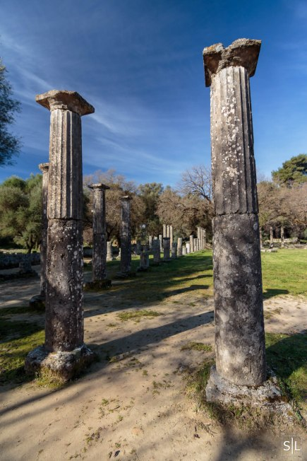 Ruins of the palaestra, Olympia